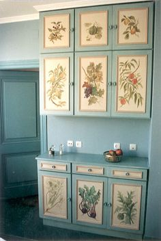 Painted Kitchen cupboards; private house; Madrid, 1992