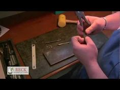 Leather Craft Training #3 - Setting Rivets - Basic Skills HD