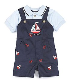 Starting Out 324 Months Sailboat Nautical Shortall #Dillards ON CLEARANCE