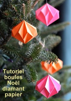 Handmade Holiday: 14 DIY Origami Ornaments, DIY and Crafts, Looking to get crafty? Here are 14 cool origami projects you can hang on your tree, use to make garland, or deck out your mantel. Origami Christmas Ornament, Origami Ornaments, Paper Ornaments, Christmas Tree Ornaments, Origami Xmas Decorations, Xmas Trees, Ornaments Ideas, Diy Christmas Paper Decorations, Origami Garland