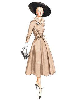 V2401   Misses' Waist-Tie Dresses   Vogue Patterns