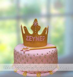 prenses tacı doğum günü pastası #crown #prenses #taç #pembe