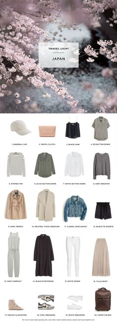 What to pack for Japan in the Spring. 20 items, 10+ days/outfits, 1 carry on…