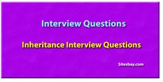 Inheritance interview questions in java