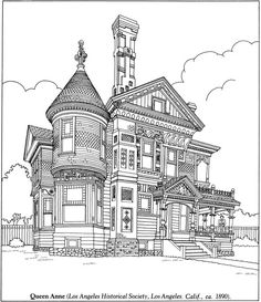 fantastic cities houses and victorian homes coloring book