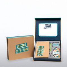 Corporate gifts - Welcome to the Team Awesome Kit – Corporate gifts Welcome To The Team, Welcome Card, Welcome Gifts, Welcome New Employee, Welcome Logo, Corporate Giveaways, Corporate Gifts, Mail Jeevas, Welcome Packet
