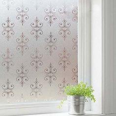 Coavas® No Glue Decorative Pattern Matt Glass Film Window Stickers Bathroom Vinyl Decals Explosion-proof Grilles Paper (17.7-by-78.7 Inch)