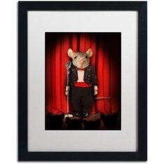 Trademark Fine Art 'Mice Series #1.5' Canvas Art by J Hovenstine Studios, White Matte, Black Frame, Size: 16 x 20, Multicolor