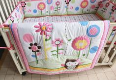NEW WHITE-PINK 2in1 COT-BED 140x70 WITH A 12-PIECE BEDDING no 20 MATTRESS FREE