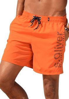 #S.OLIVER #Herren #Badeshorts #orange - Im angesagten Look mit Logo