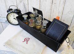 #Konvolut: herrlichstes Vintage Set fix u. fertig von Gerne Wieder.GbR auf DaWanda.com #shabby #industrial #flacon