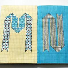 graph paper doodles!