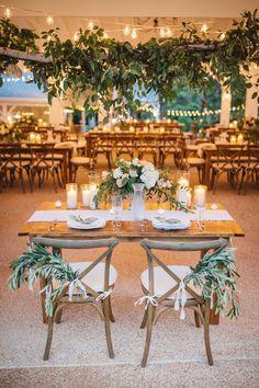 Lush sweetheart table with greenery galore #cedarwoodweddings Anna+Michael, 09.18.2016 | Cedarwood Weddings