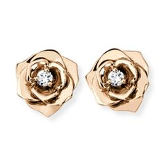 Piaget Rose Gold and Diamond Earrings