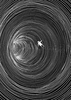 Lost in Space Art Print by Marjanne Mars Illusion Kunst, Illusion Art, Art Sketches, Art Drawings, Space Drawings, Tattoo Sketches, Tattoo Drawings, Art Et Illustration, Dark Art Illustrations