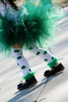 St Patricks Day 3 Tiered Tutu in Dark Green by the Lucky Clover Boutique, $13.00