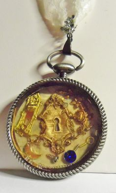 Steampunk Pocket Watch Pendant by Spiritracer on Etsy