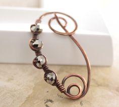 Copper shawl pin or scarf pin