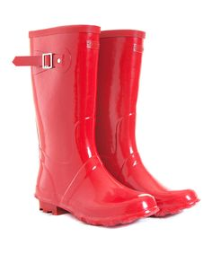 Red Wellington Rain Boots | Daily deals for moms, babies and kids