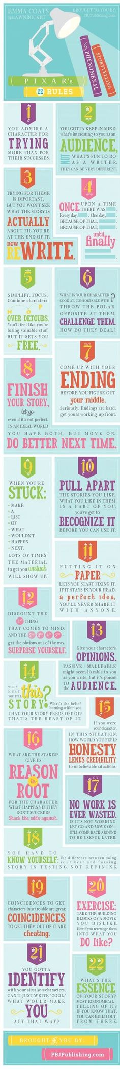 Pixar 22 Rules To Phenomenal Storytelling