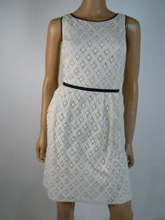 c69250fc5ff LAUREN Ralph Lauren Ivory Lace Black Grosgrain Sheath Dress 10 Petite NEW  R319 #RalphLauren #