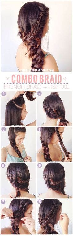 Gorgeous Messy Long Hair | Fishtail French Braid | Bohemian Chic Hair Tutorial | DIY Pinup Hair | Vintage Boho Style