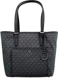 e88609a0fce39 New Michael Kors Women s Large Jet Set Top Zip Snap Pocket Tote Bag Leather  Shoulder Women