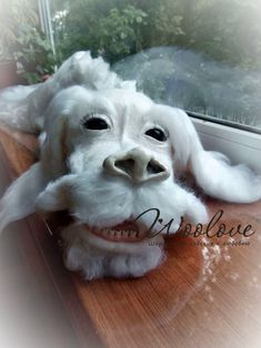 Giant Needle felted Falcor/1 meter Falcor/Neverending | Etsy Big Dragon, White Dragon, The Neverending Story, Needle Felting, Fur Babies, Lion Sculpture, Wool, Masters, Animals