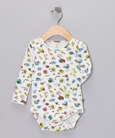 Take a look at this White Bug Organic Bodysuit - Infant by Green Kids on #zulily today!