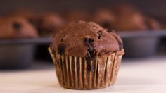 Double Chocolate Chip 'Cupcake' Muffins