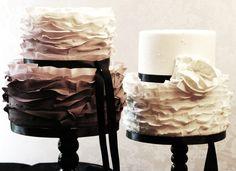 Fondant ruffles cake - Sugar Realm, Fine Bakery & Cake Design!