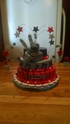 The Voice birthday cake