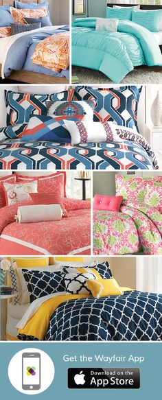 Want to wake up your tired bedroom style? From the classic white comforter to exciting geometric or floral designs, we can help your bedroom pop with our comforter set selection. Download the free Wayfair app to access exclusive deals everyday up to 70% off. Free shipping on all orders over $49.