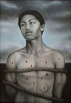 New Zealand Homo, St Sebastian, Painting & Drawing, Acting, Saints, Religion, Fine Art, Statue, Portrait