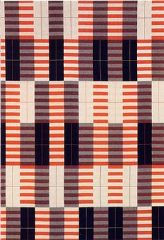 Anni Albers attended the Bauhaus school, where she wanted to do architecture but they wouldn't let her because of her gender. Nor would they let her use glass. So she did textile weaving - and revolutionised it.
