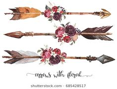 Watercolor Ethnic Boho Set Arrows Feathers stock illustrations, images and vectors 685428517 - Find Watercolor Ethnic Boho Set Arrows Feathers HD stock images and millions of other royalty-free - Feather Arrow Tattoo, Indian Feather Tattoos, Arrow Tattoo Design, Native American Arrow Tattoo, American Indian Tattoos, Native American Decor, Navajo Tattoo, Body Art Tattoos, Small Tattoos