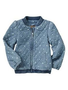 Quilted dot chambray jacket | Gap