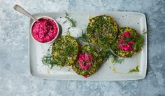 Persian Pea + Herb Little Bakes with Beetroot Labneh | Anna Jones