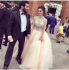 Two Pieces O-Neck A-Line Prom Dresses,Long Prom Dresses,Cheap Prom Dresses, Evening Dress Prom Gowns, Formal Women Dress,Prom Dress,