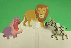 Libros Pop-Up Books Cards: Cómo Hacer un Divertido Libro Pop-Up de Animales! Arte Pop Up, Pop Up Art, Kirigami, Cuento Pop Up, Tarjetas Pop Up, Butterfly Life Cycle, Alice, Art For Kids, Art Projects