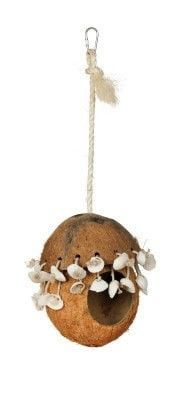 BIRD - TOYS: VARIOUS - NATURALS COCO HIDEAWAY W/SHELL - - PREVUE PET PRODUCTS, INC - UPC: 48081628027 - DEPT: BIRD PRODUCTS