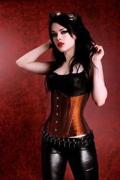 Under bust corset. I adore the color!