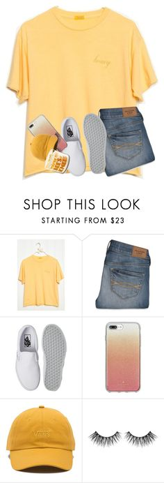 """""""Teacher Workday"""" by cristentaylor ❤ liked on Polyvore featuring Abercrombie & Fitch, Vans and Kate Spade"""