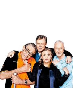 peter mayhew (chewbacca), mark hamill (luke skywalker), carrie fisher (princess leia), and anthony daniels Star Wars cast original Star Wars Rebels, Star Wars I, Star Wars Cast, Hanna Barbera, Mark Hamill Luke Skywalker, Anthony Daniels, Chef D Oeuvre, Cinema, Chewbacca