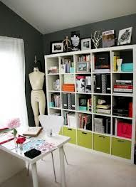Ikea book cases...these by the way are open/finished on both sides. Room dividers?