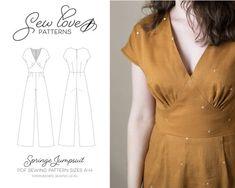 Pdf Sewing Patterns, Clothing Patterns, Dress Patterns, Shirt Patterns, Diy Clothing, Sewing Clothes, Fashion Sewing, Diy Fashion, Sewing Hacks