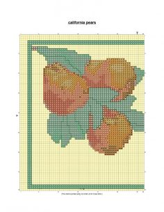 California Pears free cross stitch pattern