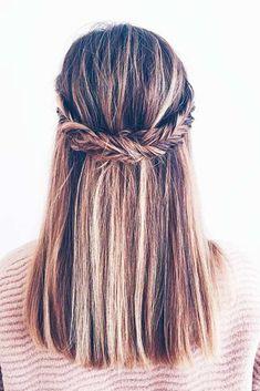 Five-Minute Cute Hairstyles for Medium Hair ★ See more: http://lovehairstyles.com/cute-hairstyles-for-medium-hair/ #UpdosMediumHair