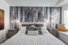 Ламинат на стене в спальне [80+ Вариантов Отделки Стен] 2017