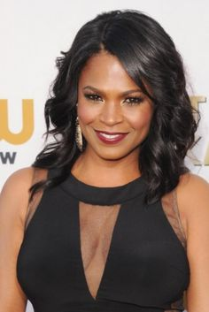 Nia Long wore side swept bangs to the Critics Choice Awards in January.